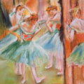After Degas - Green Dancers on stage