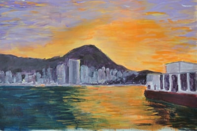 Hong Kong Harbour from the Star Ferry.  Sunset.