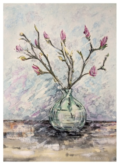 Vase with Magnolia