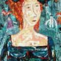 Self-portrait oil painting Bogomolnik