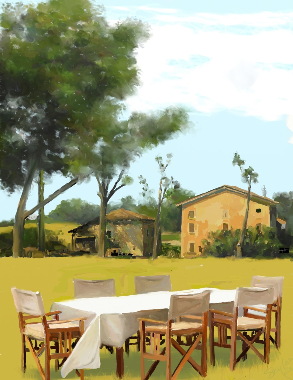 Lunch In A Tuscan Field