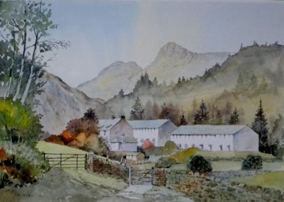 Footpath from Thrang Farm Great Langdale Cumbria