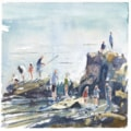 Crabbing at Seaview plein air