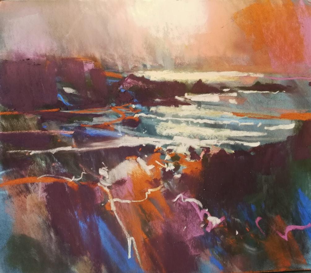 North Cornish coast low sun