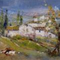 piccolo borgo(small village)Leonetta Rossi painter