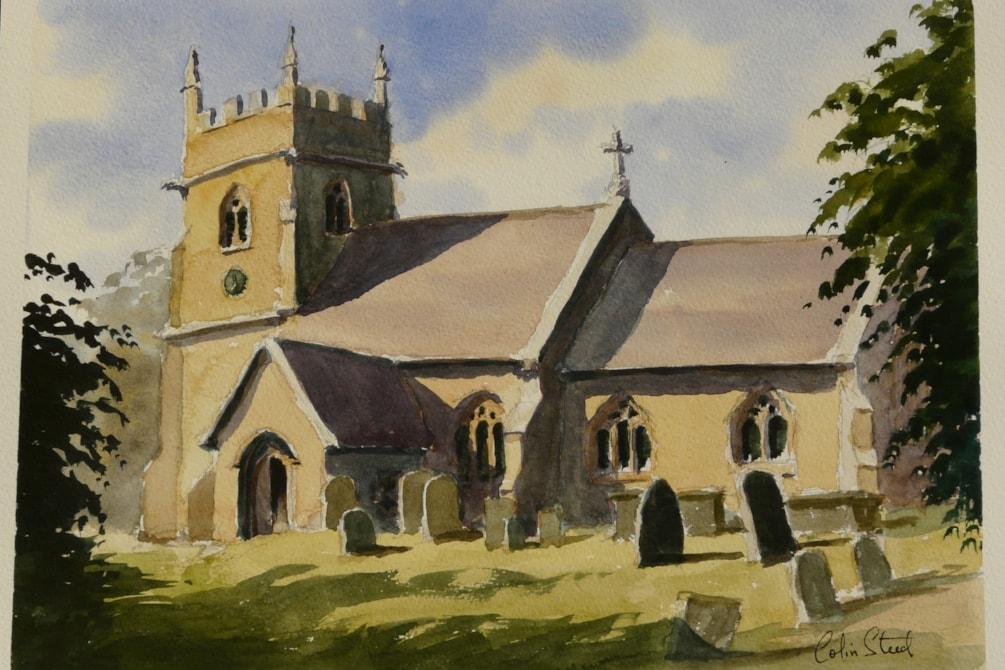 Cotswold Stone Church, Woolstone.