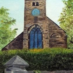 St. Leonards Church, Loftus, North Yorks. - Oil on Board