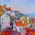 Staithes -view from garden in Church Street