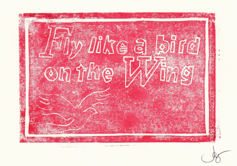 Another stab at lino printing