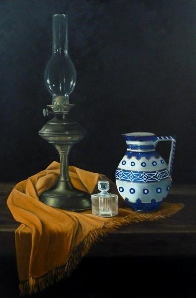 Oil lamp and jug