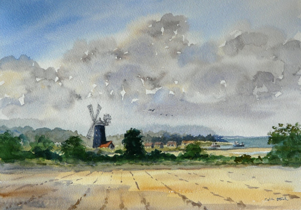 Tower Mill From Gong Lane, Burnham Overy