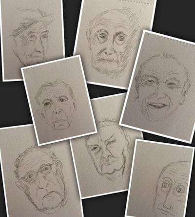 Quick sketches - old men