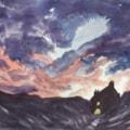 "Sutherland Dawn waltercolour 13x9"""