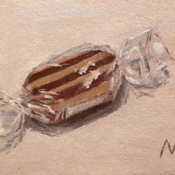 Bah Humbug - tiny still life oil sketch
