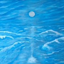 Silver moon reflections (seascape)