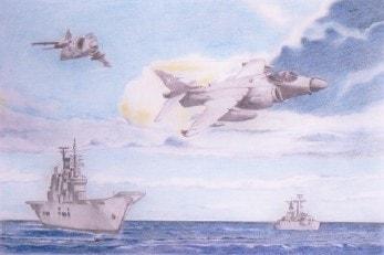 Last flight of the Harrier from HMS Ark Royal