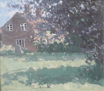 Cottage by the church yard, Alylesby, Lincs.