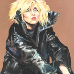 Debbie and black leather jacket