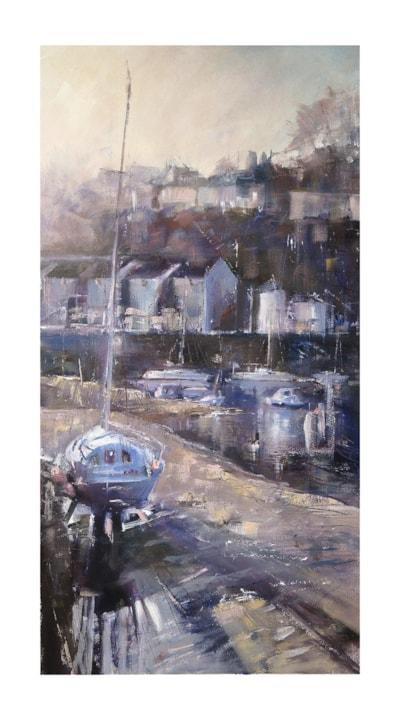 Porthmadog Harbour, oil 40 x 75 cm