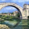 Jumping off Mostar Bridge - Bosnia.
