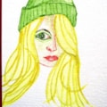 Girl in Green Woolly Hat