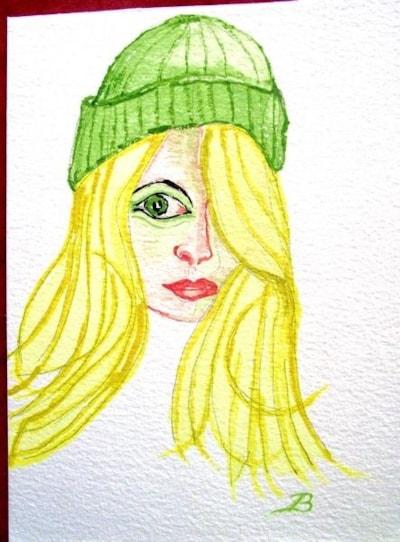 Girl in Green Woolly Hat
