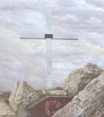 Memorial Cross on Mount Longdon