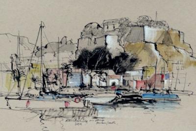 Denia Marina (Spain) - Plein air sketch.