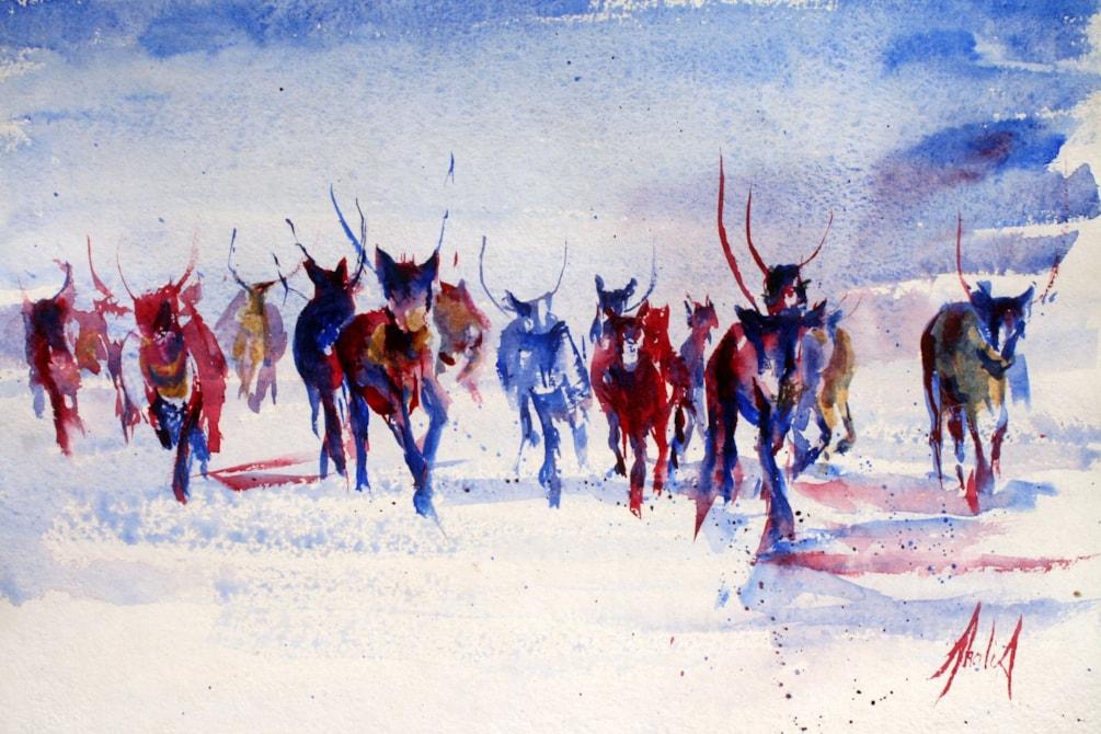 Rushing Reindeer