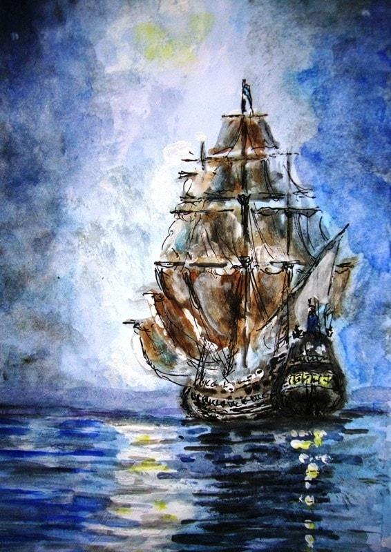 Sailing down a moonbeam...