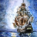 Sailing down a moonbeam...
