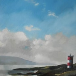 Knocklayde from Rathlin Island  ( repainted)