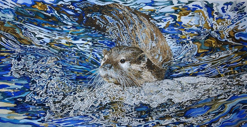 Otter making waves