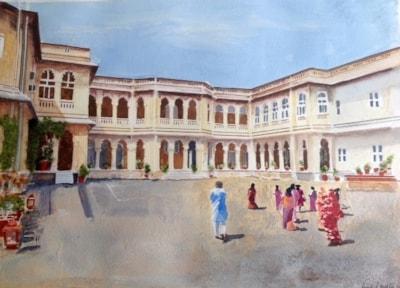Hawa Mahal Palace - Rear view, Gondal, Gujerat, India