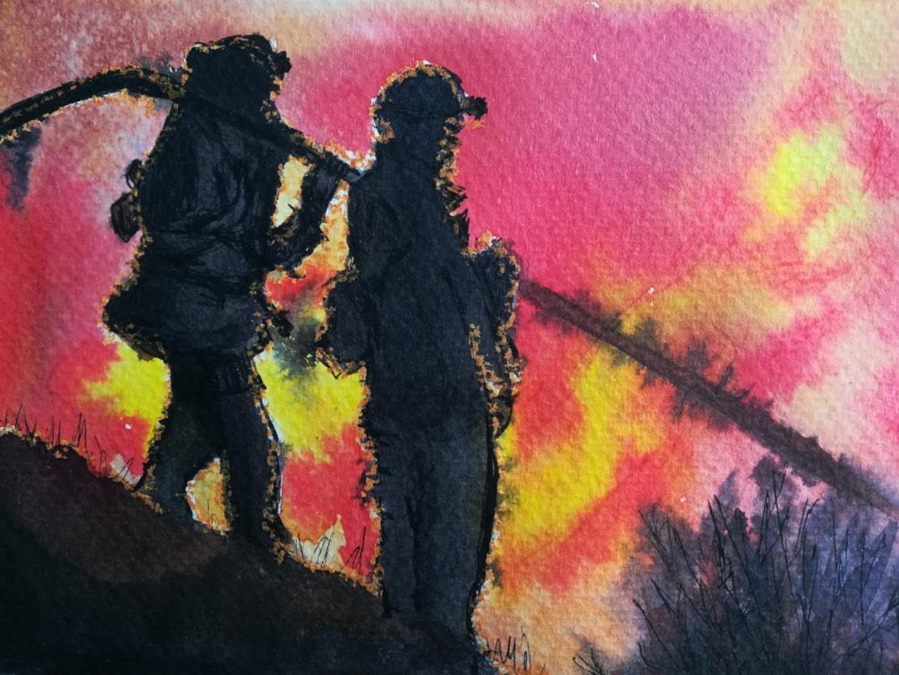 Forest fire, Inktober challenge