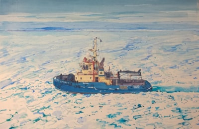 Tugboat, Svitzer Bussa in ice and snow