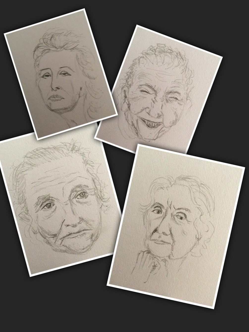 Quick sketches - old ladies