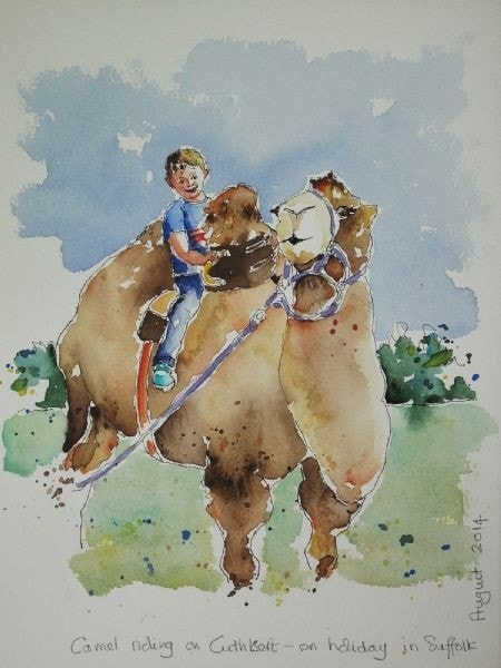 Sketches from my holiday - Riding Winston the Camel