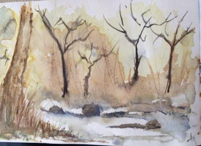 Loch side tree study