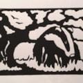 Badger (Linocut)