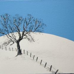 snow acrylic blue