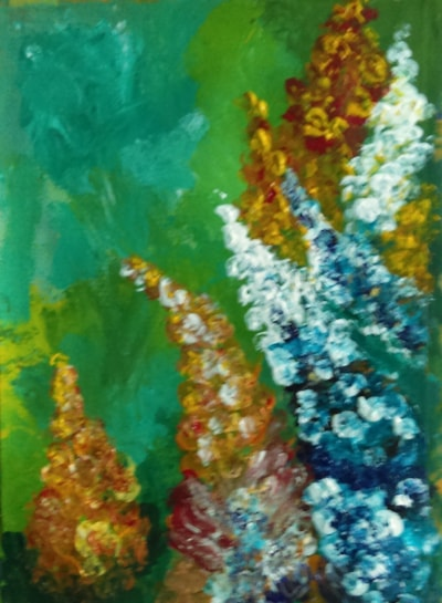 Finger painting flowers