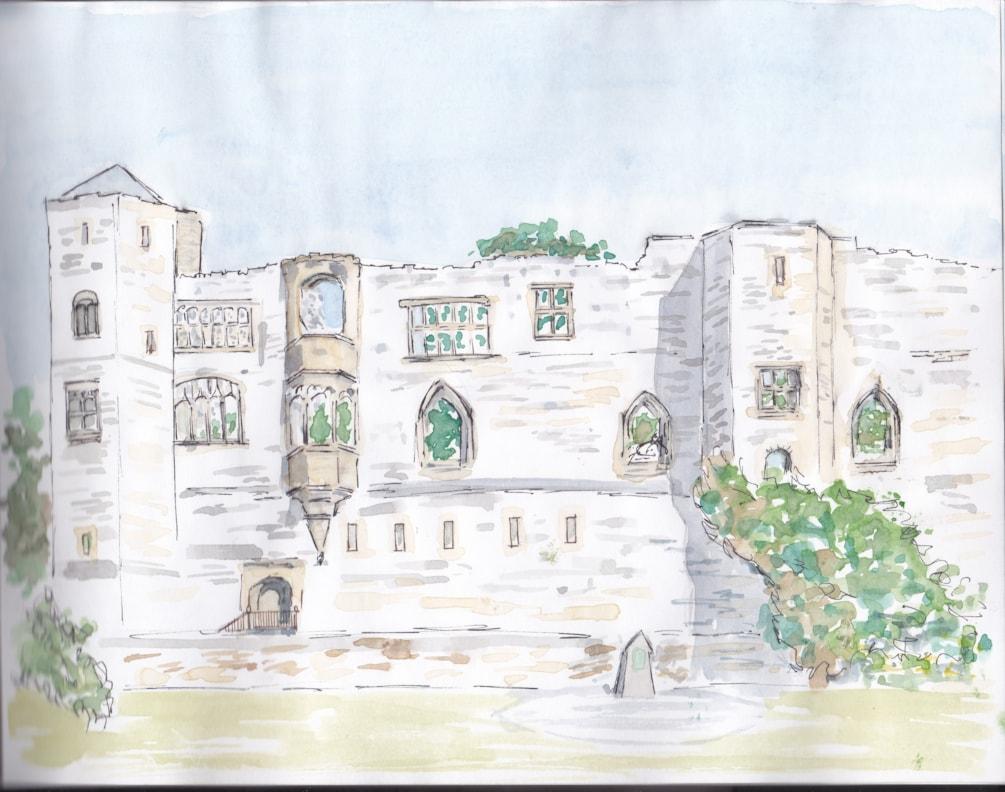 Newark Castle from opposite bank