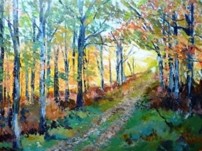 Forest landscape early Autumn