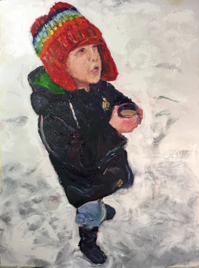 Is there more hot chocolate? Acrylic on 40x30 canvas
