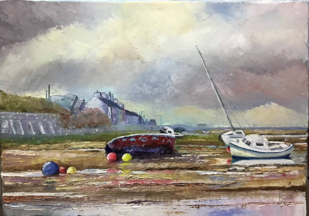 Aberffraw estuary boats, Anglesey
