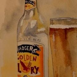 Badger beer still life