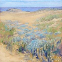 Sand dunes at Malia beach