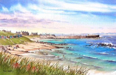 Hopeman Harbour from the Headland