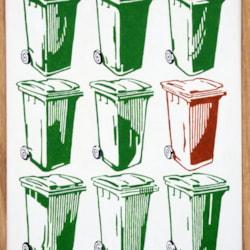 9 wheelie bins